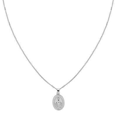 Ketting Saint Mary zilver zilveren dames lange kettingen heilig gold plated sieraden accessoires online bestellen