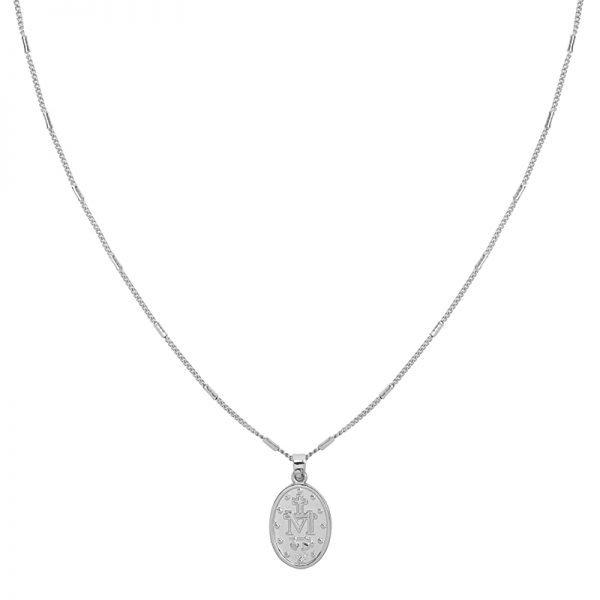 Ketting Saint Mary zilver zilveren dames lange kettingen heilig gold plated sieraden accessoires online bestellen bedels achter