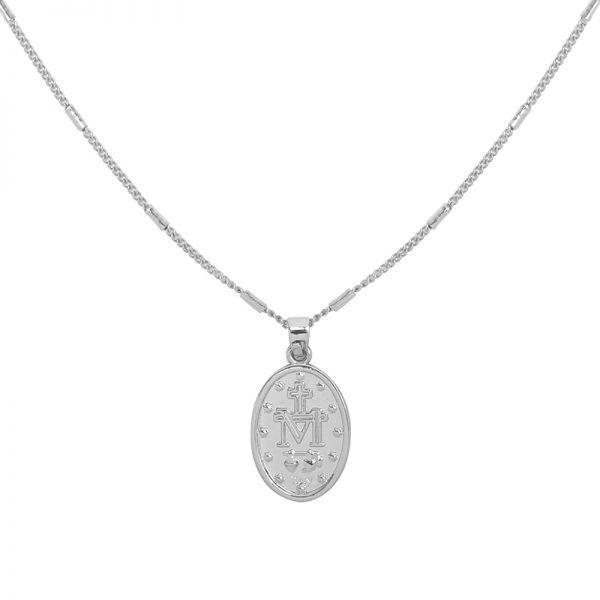 Ketting Saint Mary zilver zilveren dames lange kettingen heilig gold plated sieraden accessoires online bestellen bedels achter detail