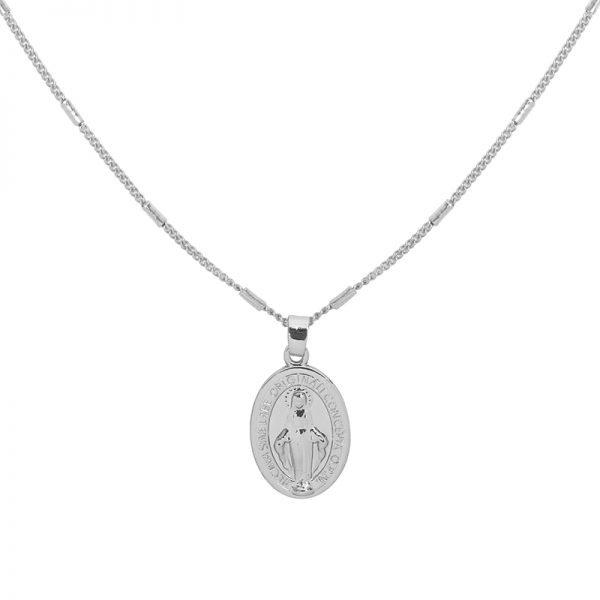 Ketting Saint Mary zilver zilveren dames lange kettingen heilig gold plated sieraden accessoires online bestellen bedels voor detail