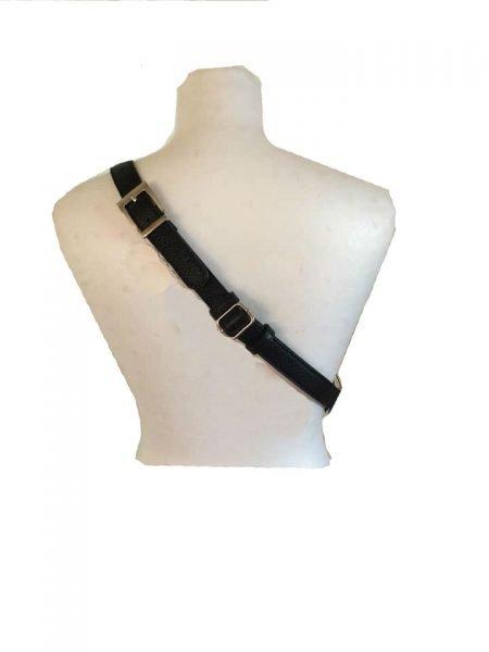 Leren Heuptas Billy zwart zwarte grote heuptassen fannypacks leather crossbody bags rits zilver beslag dames beltbags riemtassen kopen bestellen dames riem
