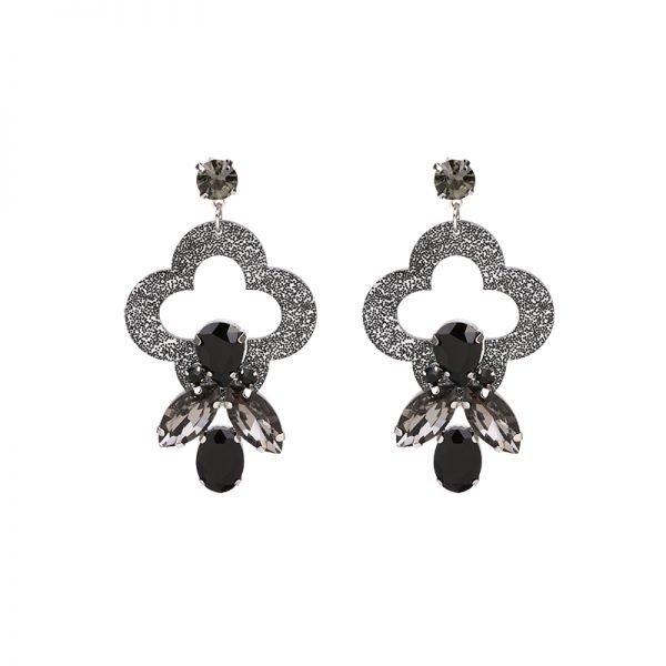 Oorbellen Artsy zwart zwarte oorbellen oorhangers klassiek steentjes musthave sieraden