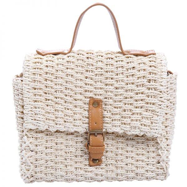 Rieten Tas Olive beige creme rieten stra dames tassen summer bags handtassen beach bags rattan rotan