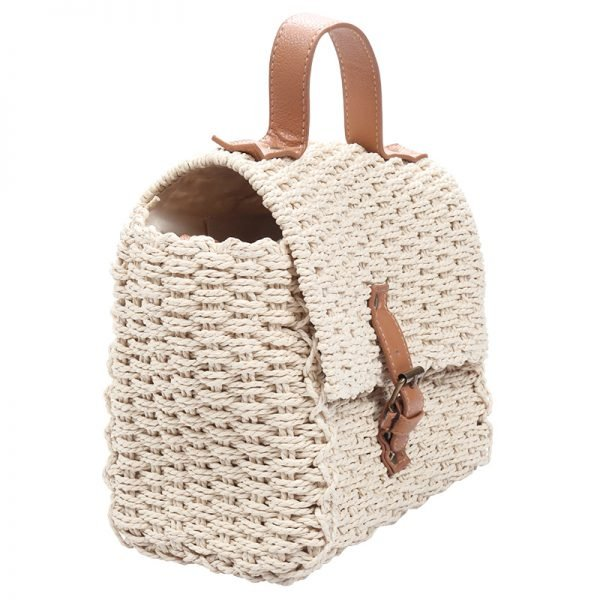 Rieten Tas Olive beige creme rieten stra dames tassen summer bags handtassen beach bags rattan rotan koffertje