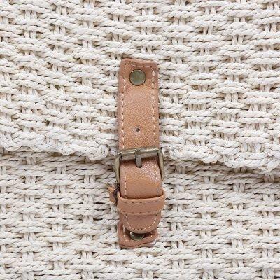 Rieten Tas Olive beige creme rieten stra dames tassen summer bags handtassen beach bags rattan rotan koffertje detail