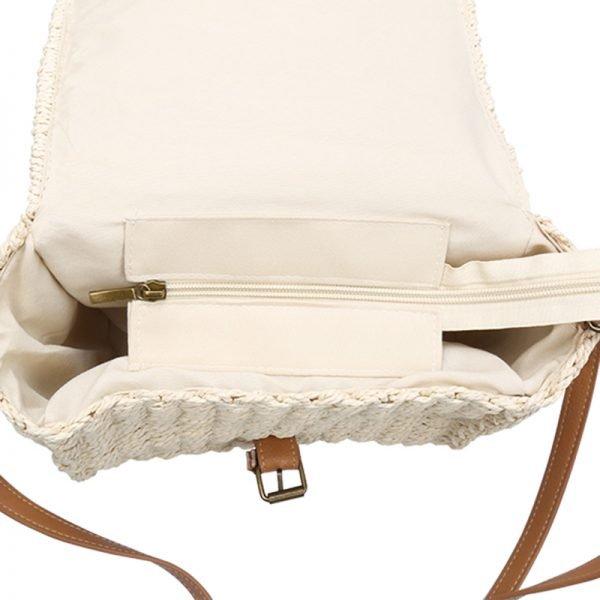Rieten Tas Olive beige creme rieten stra dames tassen summer bags handtassen beach bags rattan rotan koffertje kopen
