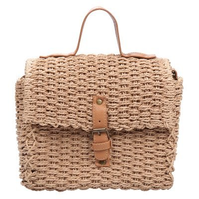 Rieten Tas Olive bruin bruin rieten stra dames tassen summer bags handtassen beach bags rattan rotan