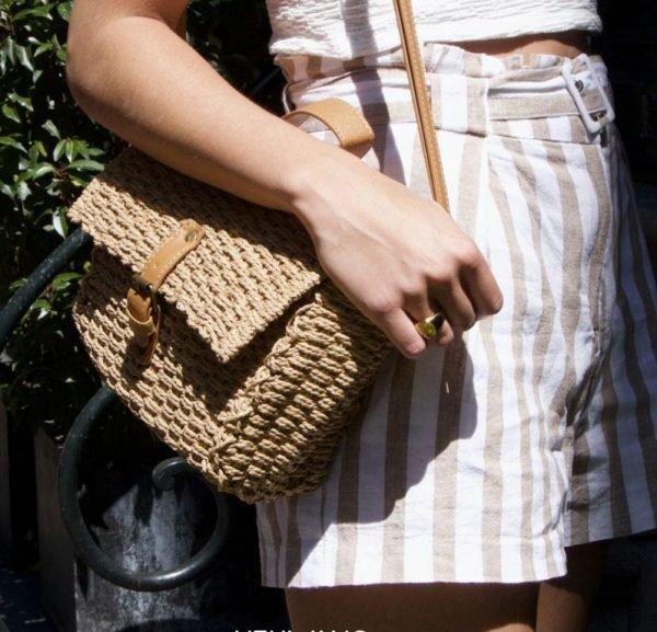 Rieten Tas Olive bruin bruin rieten stra dames tassen summer bags handtassen beach bags rattan rotan kopen