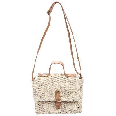 Rieten Tas Olive creme nude beige rieten stra dames tassen summer bags handtassen schouder tas beach bags rattan rotan