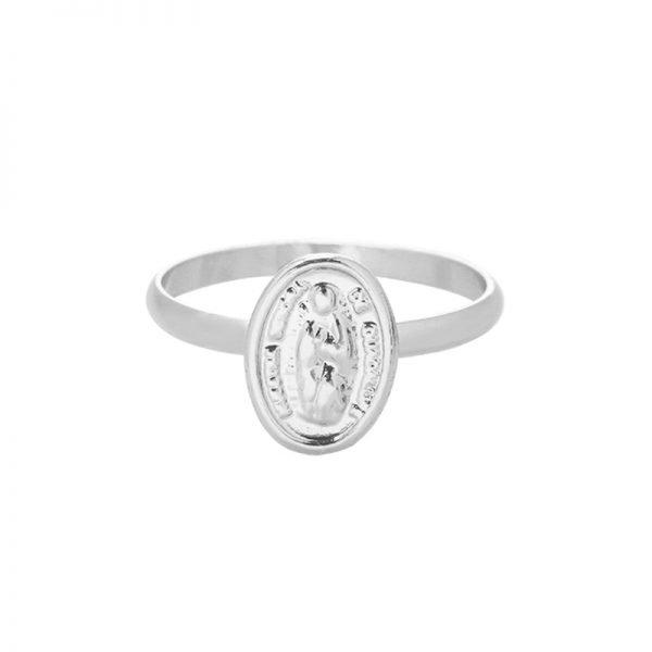 Ring Saint Mary zilver zilveren dames ringen heilig gold plated sieraden accessoires online bestellen
