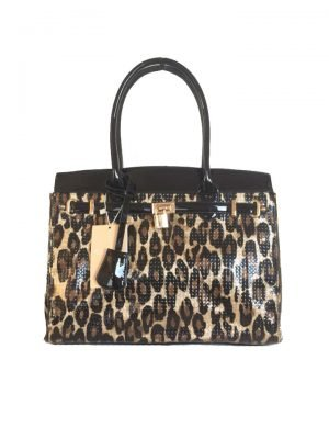Tas-Tiger-Lilly-tijgerprint-tas-gouden-kettingen-beslag-look-a-like-musthave-dames-tassen-tijger-prints-kopen-online-fashion glans leopard