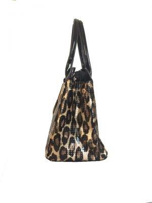 Tas-Tiger-Lilly-tijgerprint-tas-gouden-kettingen-beslag-look-a-like-musthave-dames-tassen-tijger-prints-kopen-online-fashion-zijkant glans leopard