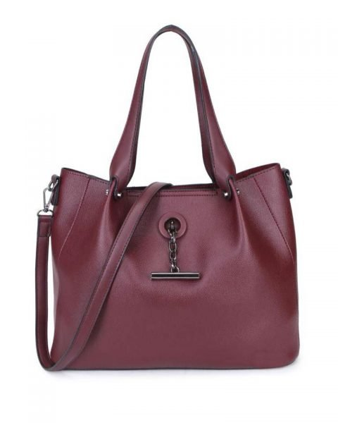 Bag in Bag Shopper Finsy bordeaux rood rode dames kunstleder tassen dames handtassen schoudertassen extra tas musthave fashion it bags kopen bestellen onl