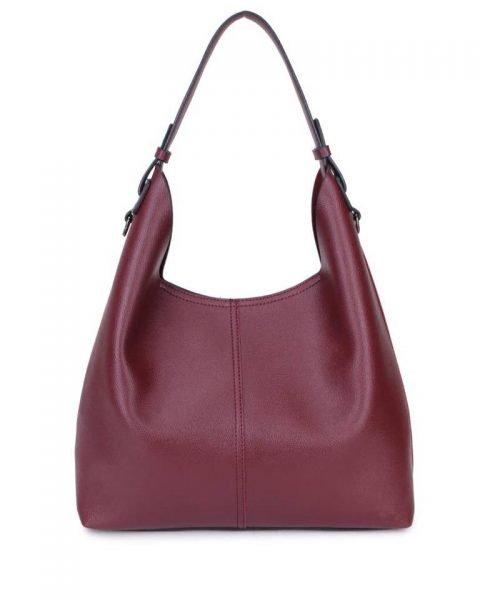 Bag in Bag Tas Finsy paars paarse aubergine dames kunstleder tassen dames handtassen schoudertassen extra tas musthave fashion it bags kopen bestellen
