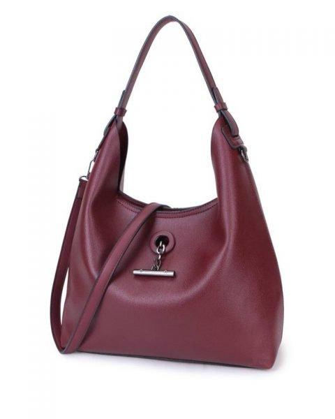 Bag in Bag Tas Finsy paars paarse aubergine dames kunstleder tassen dames handtassen schoudertassen extra tas musthave fashion it bags kopen bestellen online