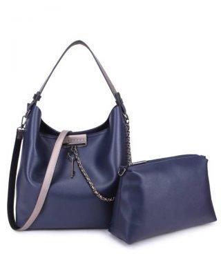 Bag in Bag Tas Key Chain blauw blauwe sleutel met ketting details handtassen dames schoudertassen 2018 hipe trendy tassen itbags bestellen kopen