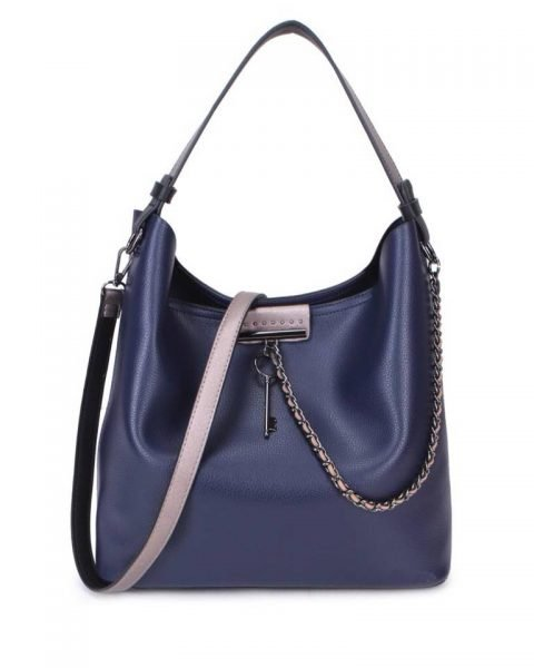 Bag in Bag Tas Key Chain blauw blauwe sleutel met ketting details handtassen dames schoudertassen 2018 hippe trendy tassen itbags bestellen kado