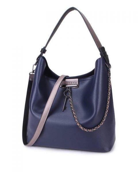 Bag in Bag Tas Key Chain blauw blauwe sleutel met ketting details handtassen dames schoudertassen 2018 hippe trendy tassen itbags bestellen kopen
