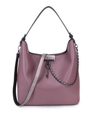 Bag in Bag Tas Key Chain paars paarse lila sleutel met ketting details handtassen dames schoudertassen 2018 hippe trendy tassen itbags bestellen kado