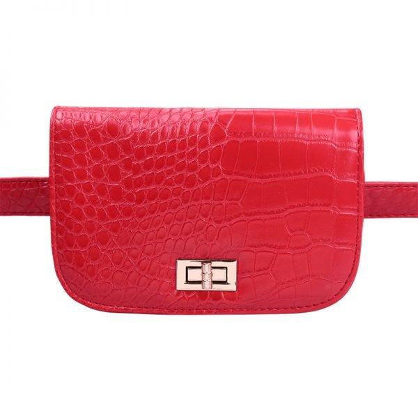 Belt Bag Snake rood rode riemtassen heuptassen fannypack waistbag slangenrpint zilver fashion kopen bestellen