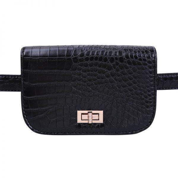 Belt Bag Snake zwart zwarte riemtassen heuptassen fannypack waistbag slangenrpint zilver fashion kopen bestellen