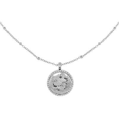 Geurketting Snake medaillon slang zilver zilveren lange dames ketting parfum bedel unieke sieraden accessoires kopen