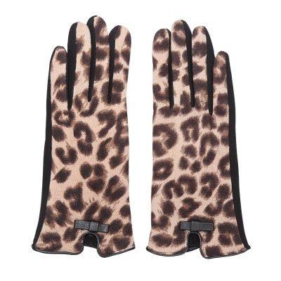 Handschoenen My Leopard bruin bruine leopard print Gloves dames handschoenen met animal print suede feel fashion winter warme wanten