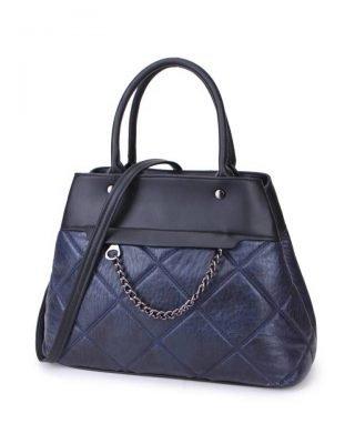 Handtas Happy Chain blauw blauwe dames schoudertassen zilveren ketting detail online trendy tassen kopen bestellen