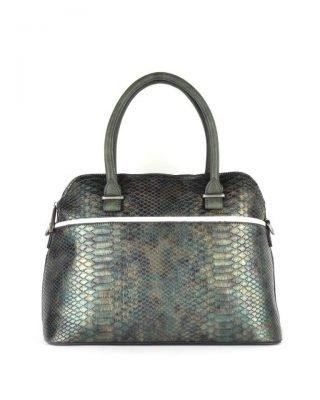 Handtas Snake line groen groene slangenprint tassen bowlingbag online giuliano tas kopen bestellen snake