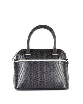 Handtas Snake line s zwart zwarte slangenprint tassen bowlingbag online giuliano tas kopen bestellen snake