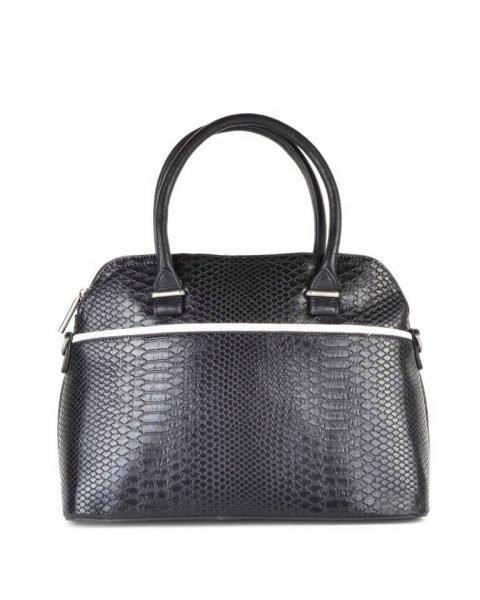 Handtas Snake line zwart zwarte slangenprint tassen bowlingbag online giuliano tas kopen bestellen snake