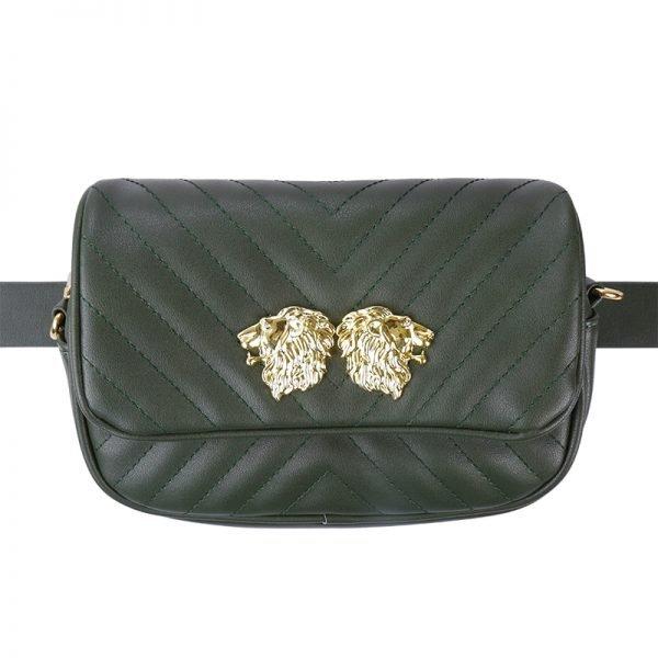 Heuptas Lions groen groene musthave dames riem heup tassen bagbelt leeuwenkop ruime hip kopen bestellen look a like