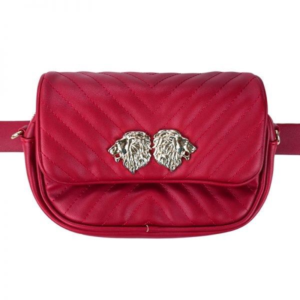 Heuptas Lions rood rode musthave dames riem heup tassen bagbelt leeuwenkop ruime hip kopen bestellen look a like