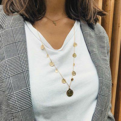Ketting Many Coins goud gouden lange schakelkettingen met muntjes layerd necklages fashion musthaves kopen
