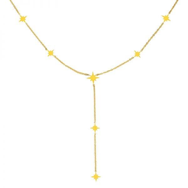 Ketting Starry Sky goud gouden hippe dames kettingen ster bedels online sieraden accessoires kopen bestellen