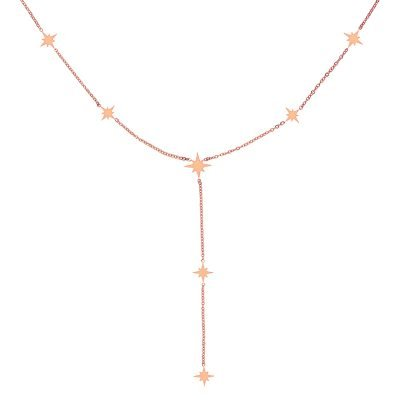 Ketting Starry Sky rose hippe dames kettingen ster bedels online sieraden accessoires kopen bestellen
