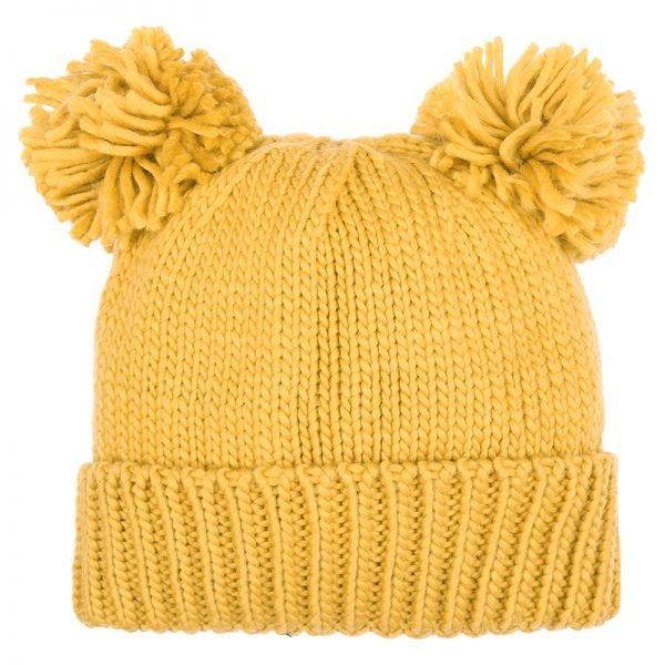 Must PomPoms Beanie geel gele dames mutsen wollen bolletje warme mutsen beanies online bestellen kopen