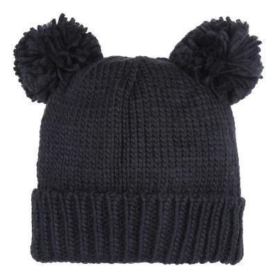 Must PomPoms Beanie zwart zwarte dames mutsen wollen bolletje warme mutsen beanies online bestellen kopen