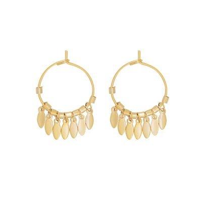 Oorbellen Dancing Leaves goud gouden ronde dames oorbellen creolen zilveren bedeltjes boho earrings kopen