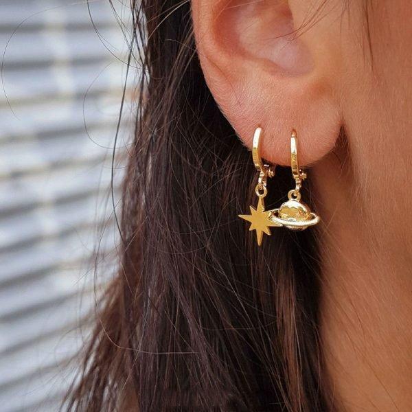 Oorbellen-Starry-Sky-goud-gouden-hippe-dames-oorbel earrings-ster-bedels-online-sieraden-accessoires-kopen-bestellen fashion