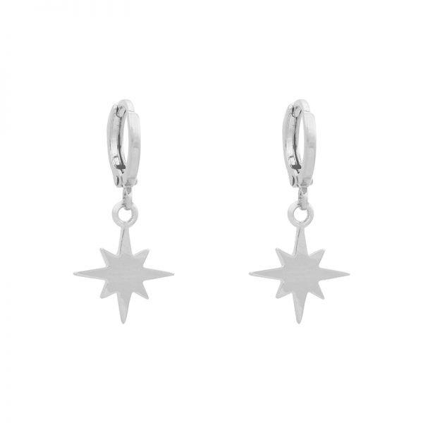 Oorbellen-Starry-Sky-zilver zilveren-hippe-dames-oorbel earrings-ster-bedels-online-sieraden-accessoires-kopen-bestellen