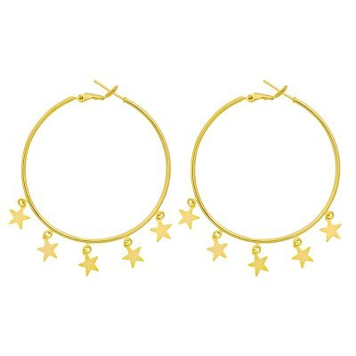 Oorbellen Stars goud gouden oorbellen creolen grote oorbel sterretjes musthave dames oorbellen oorhangers chique kopen