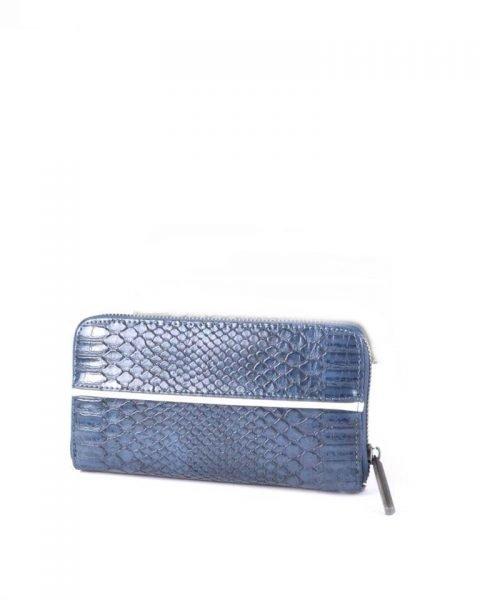 Portemonnee Snake line blauw blauwe slangenprint Portemonnees online giuliano wallets kopen bestellen snake achterkant