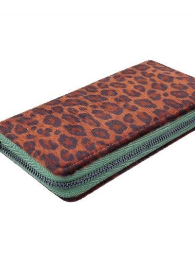 Portemonnee happy Leopard groen groene panter dieren print groene rits portemonnees kopen bestellen