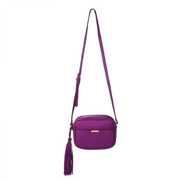 Schoudertas Icon paars paarse roze metallic tasjes dames kwastje musthave bags fashion kopen yehwang