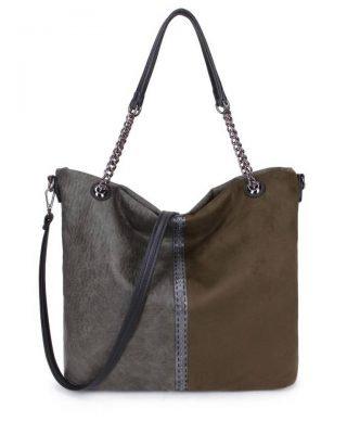 Schoudertas Mercy Chains groen groene kunstleder tassen dames ketting hengsel musthave fashion it bags kopen bestellen