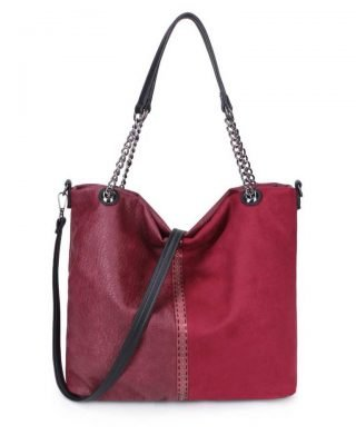 Schoudertas Mercy Chains rood rode kunstleder tassen dames ketting hengsel musthave fashion it bags kopen bestellen