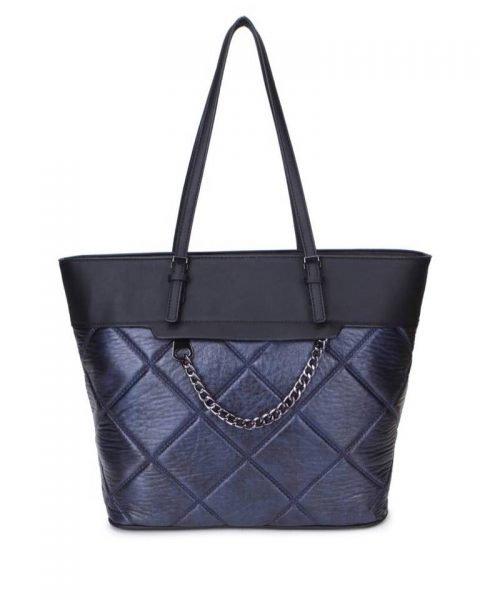 Shopper Mercy Chains blauw blauwe kunstleder tassen shoppers dames ketting hengsel musthave fashion it bags kopen bestellen