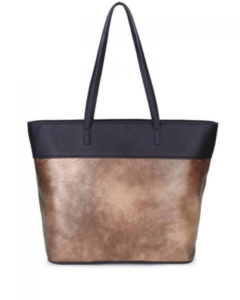 Shopper Mercy Chains taupe grijs zwart zwarte kunstleder tassen shoppers dames ketting hengsel musthave fashion it bags kopen bestellen achter