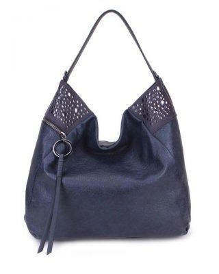 Tas Happy Studs blauwe blauw dames handtassen studs detail grote ruime hippe trendy it bags online kopen bestellen achter
